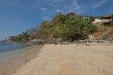 Beachfront villa with private beach