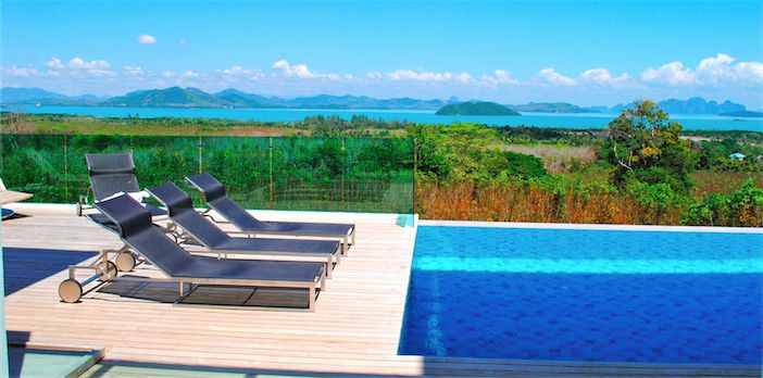 Panoramic sea view villa in Ao Po