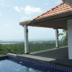 Villa fully renovated on Chaweng with panoramic sea view.