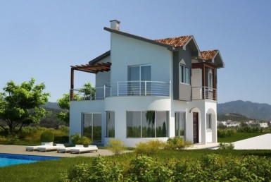 Beach front villas in North-Cyprus