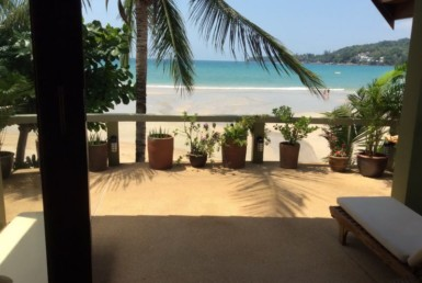Beach front home for rent in Kamala