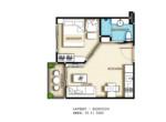 City Garden Pratumnak Condominium_1Br_32.31 Sqm.Type_B
