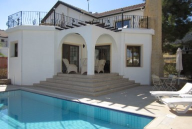 Beautifully furnished pool villa with sea view in Cyprus