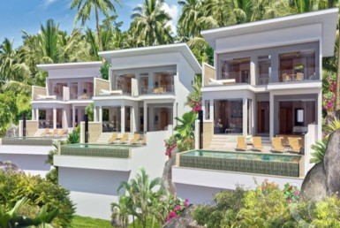 15098 - 3 bdr Villa for sale overlooking the bay in Samui - Chaweng Noi