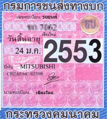Subscribing a car insurance in Thailand